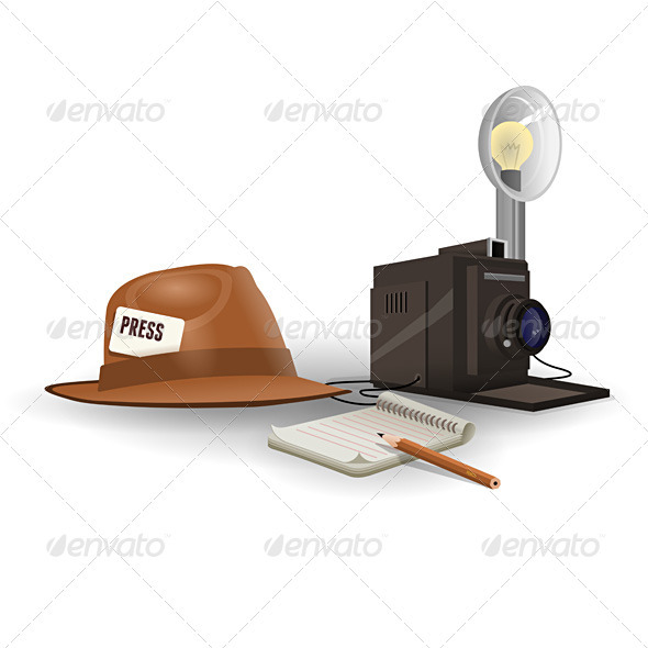 Isolated Paparazzi Equipment - Man-made Objects Objects