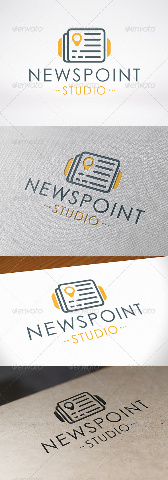 News Locator Logo Template - Objects Logo Templates