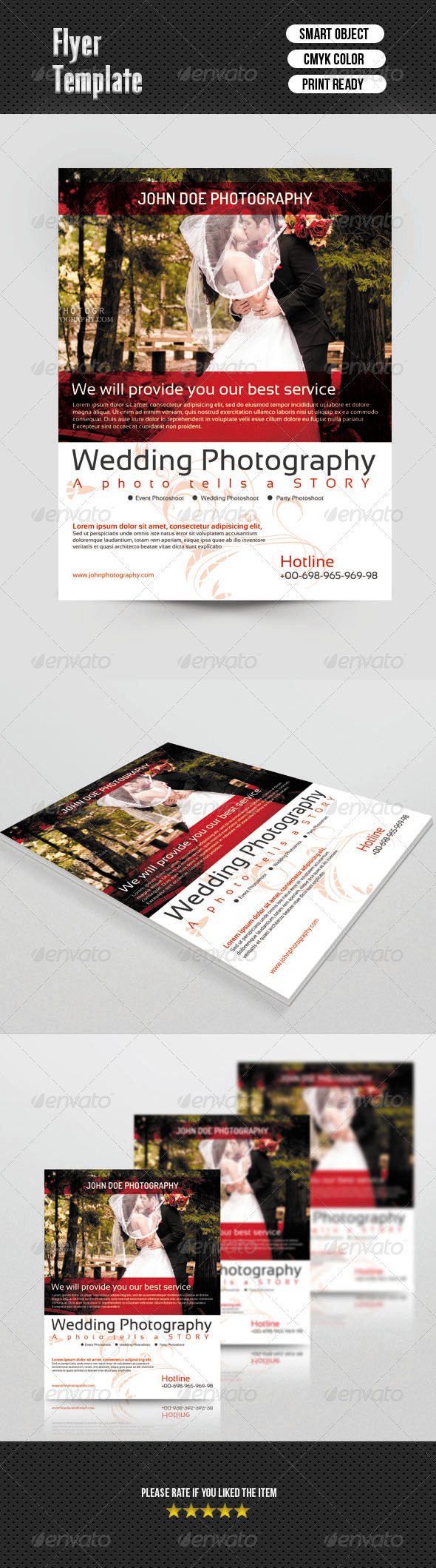 Flyer for Wedding Photographer - Corporate Flyers