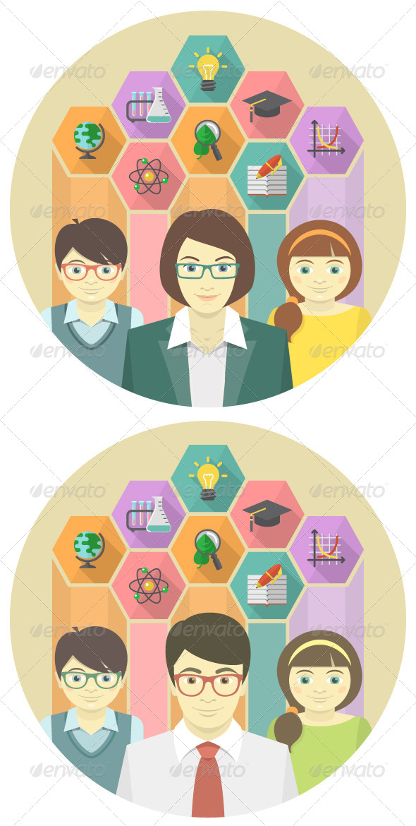 Teacher and Pupils Concept  - Miscellaneous Conceptual