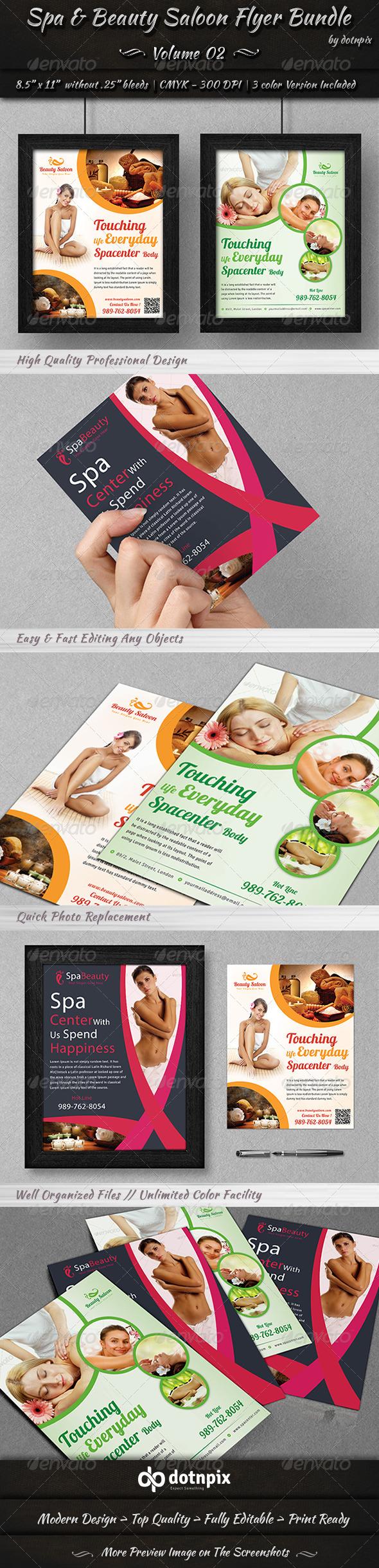 Spa & Beauty Saloon Flyer Bundle | Volume 2 - Corporate Flyers