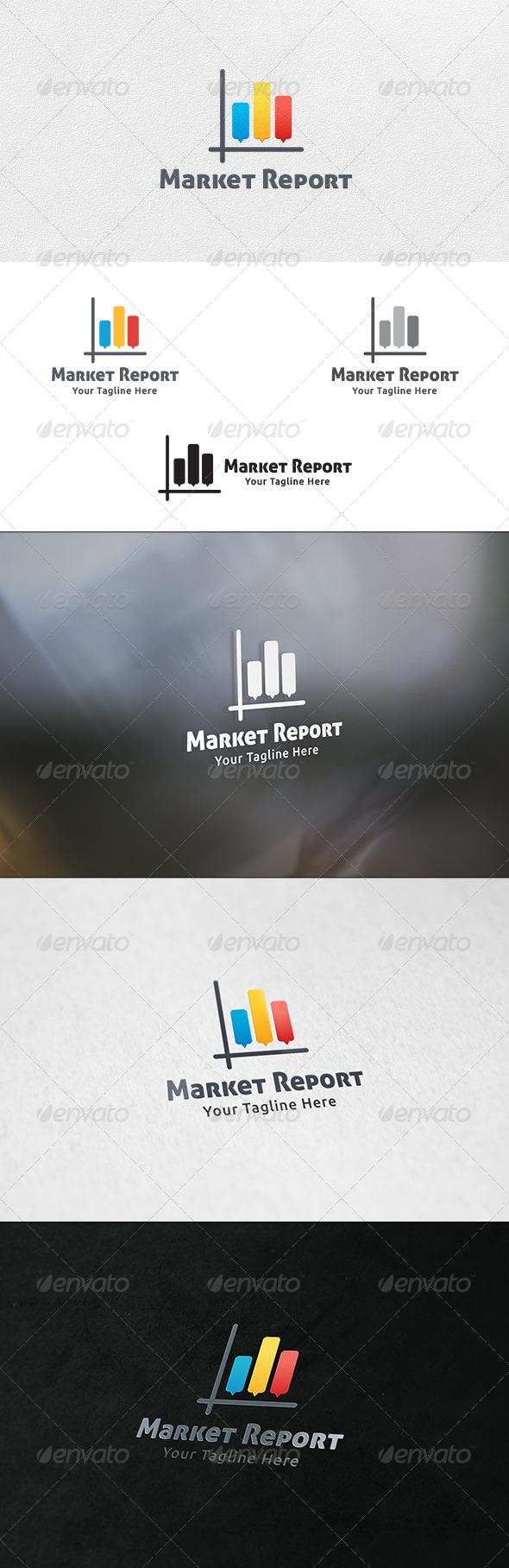 Market Report - Logo Template - Symbols Logo Templates