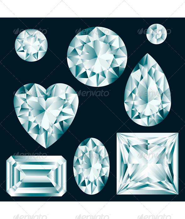Diamonds set  - Objects Vectors