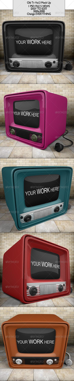 Old Tv Mock Up - TV Displays