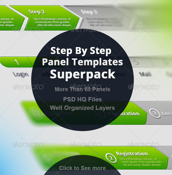 Step By Step  Panel Templates Superpack - Forms Web Elements