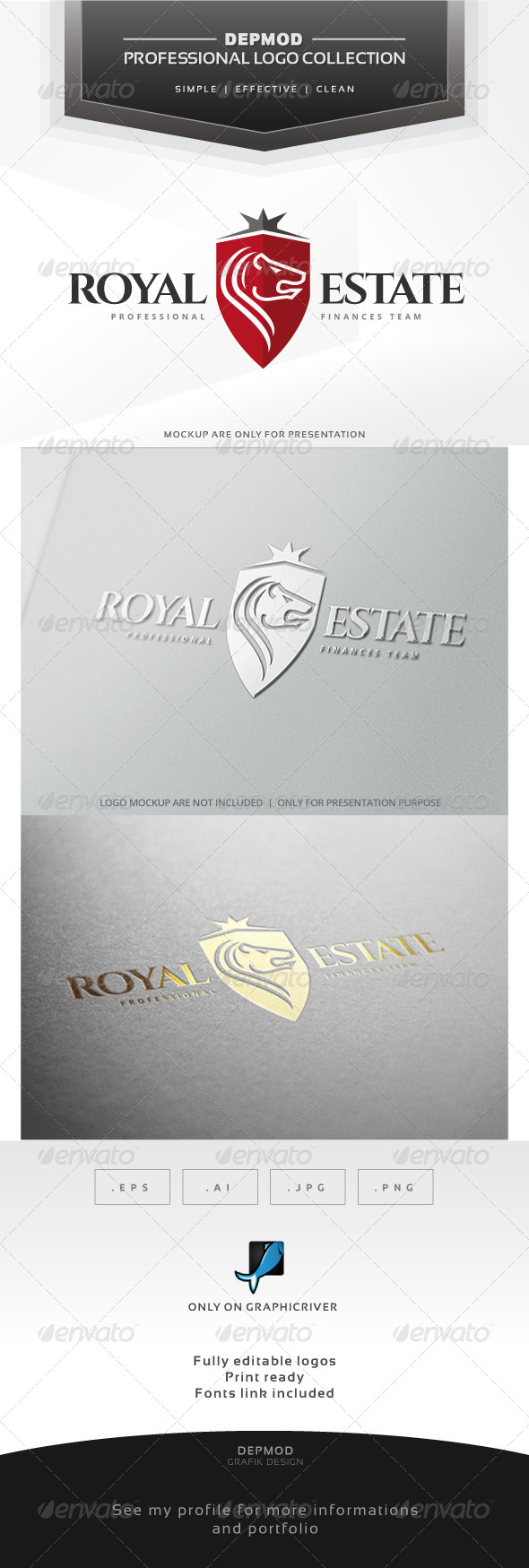 Royal Estate Logo - Crests Logo Templates