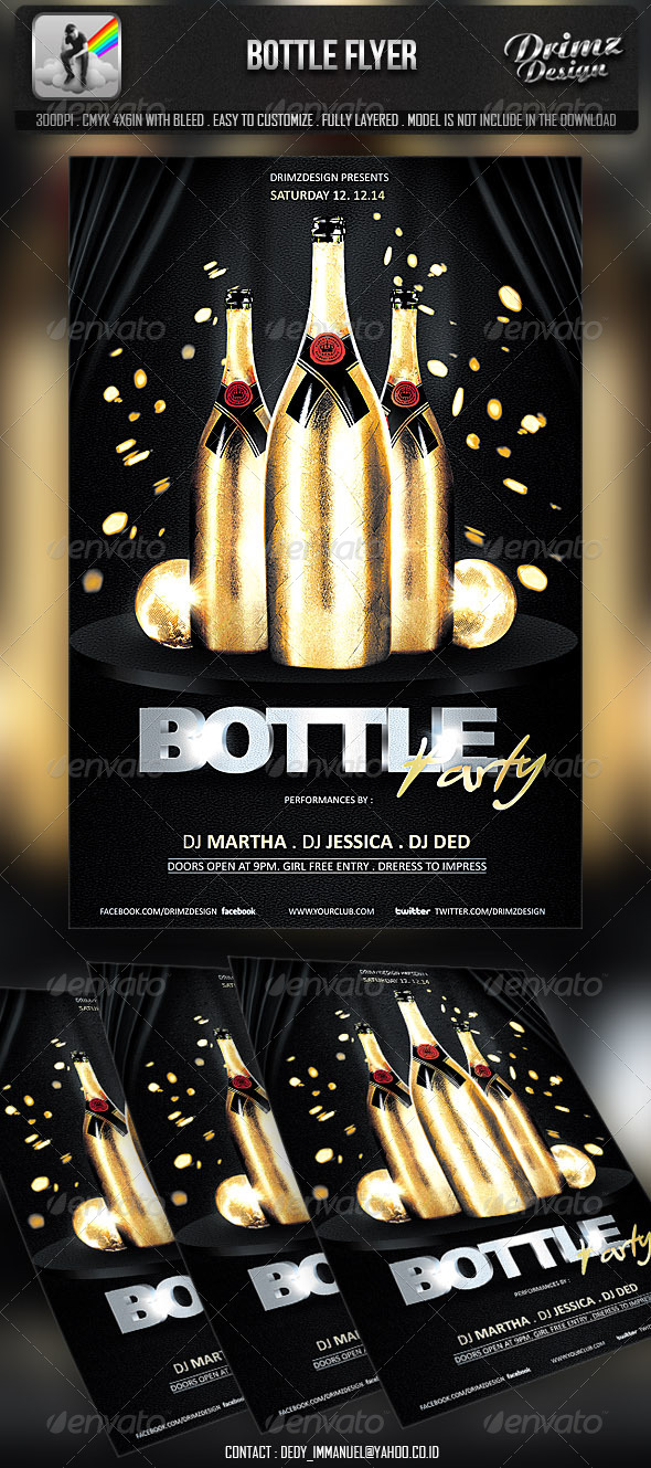 Bottle Flyer - Events Flyers