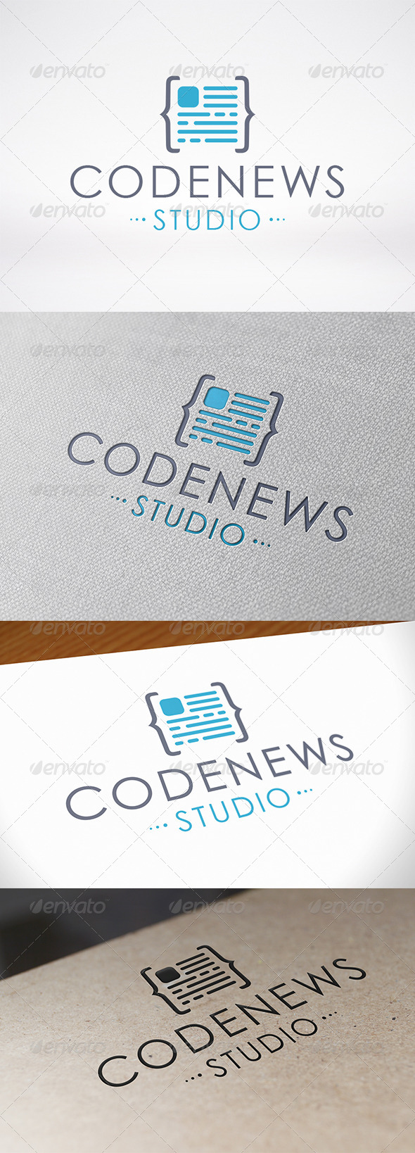Code News Logo Template by BossTwinsMusic | GraphicRiver