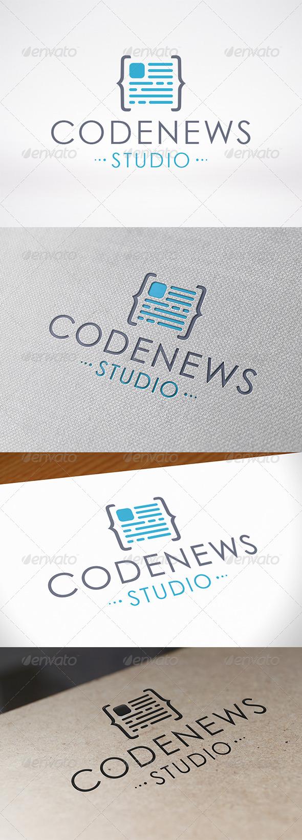 Code News Logo Template - Symbols Logo Templates