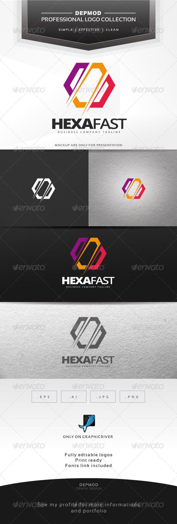 Hexa Fast Logo - Abstract Logo Templates