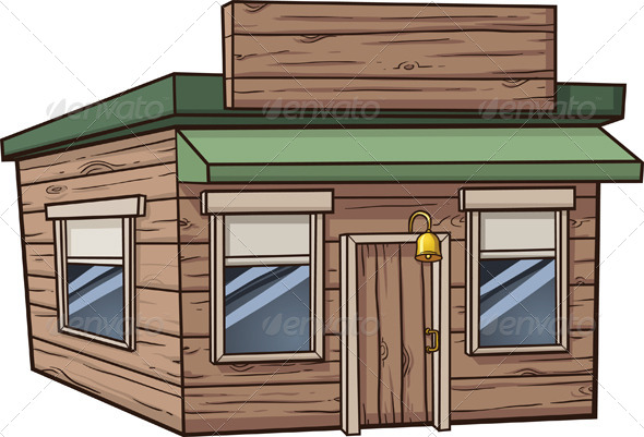 Wooden Store. - Buildings Objects