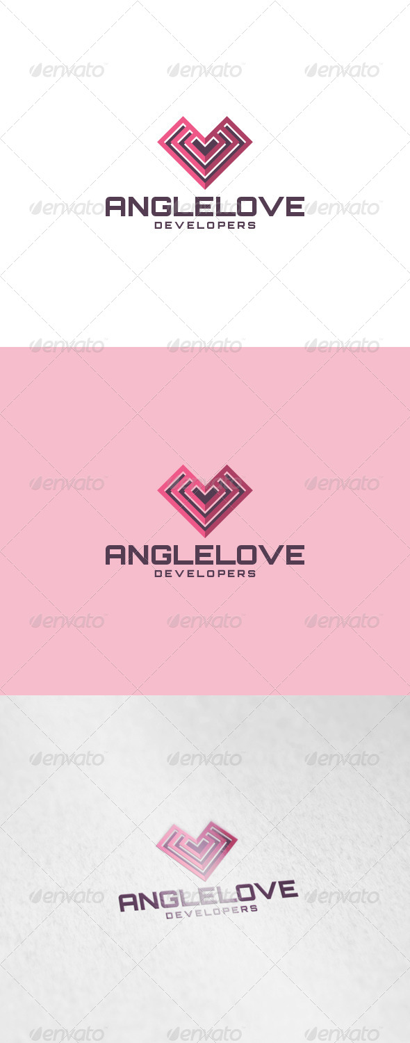 Angle Love Logo - Abstract Logo Templates