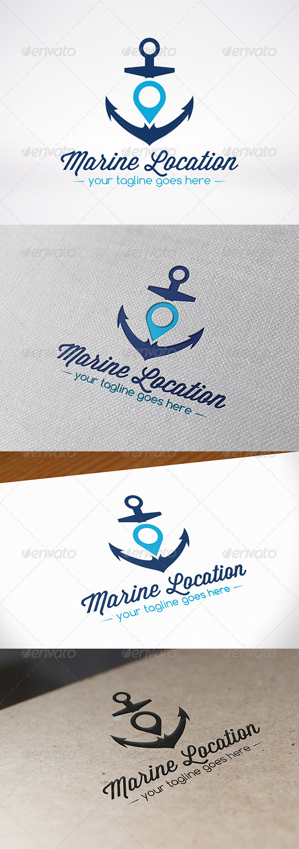Anchor Locator Logo Template - Objects Logo Templates