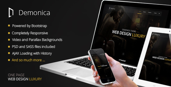 Demonica – Responsive Multi-Purpose Template