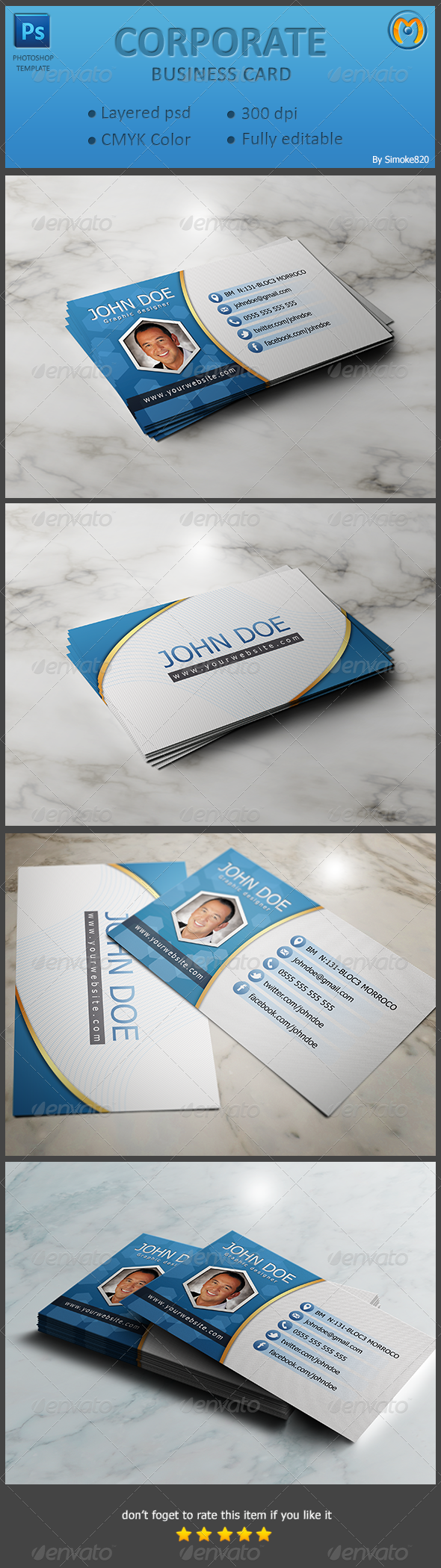 Corporate Business Card V.4 - Corporate Business Cards