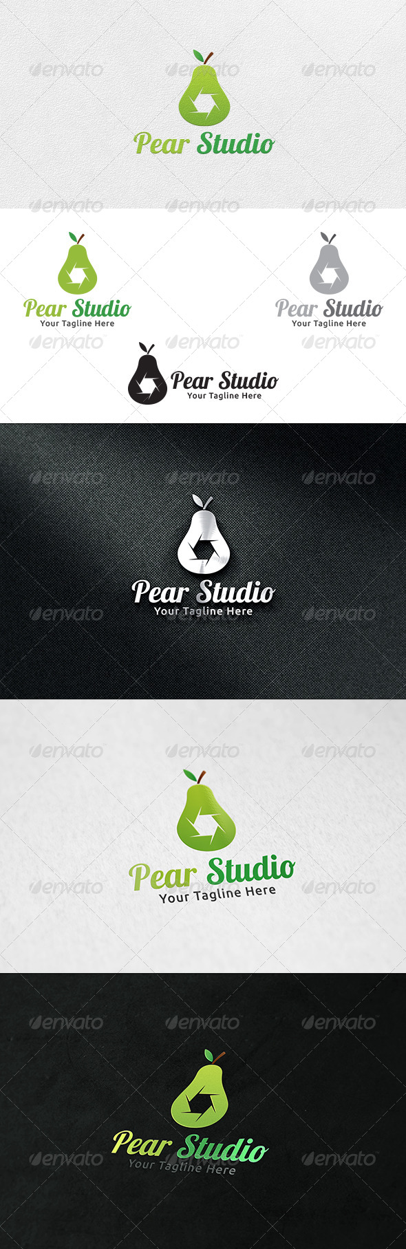 Pear Studio - Logo Template - Nature Logo Templates