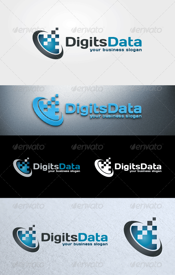 Digits Data - Abstract Logo Templates