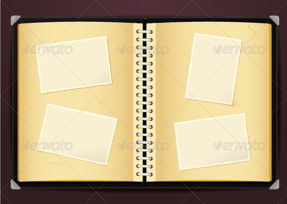 vintage photo album by zoljo  graphicriver, Powerpoint