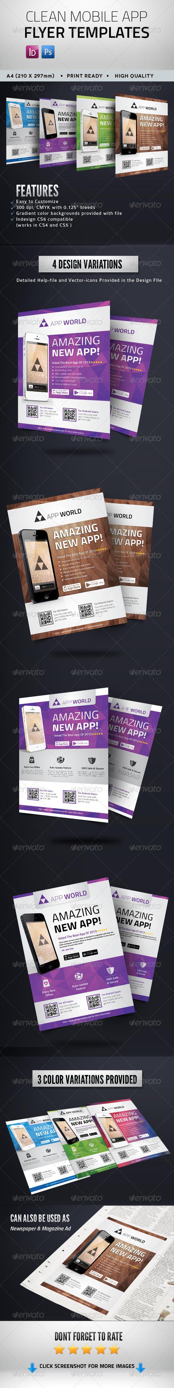 Clean Mobile App Flyer - Commerce Flyers