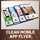 Clean Mobile App Flyer - GraphicRiver Item for Sale