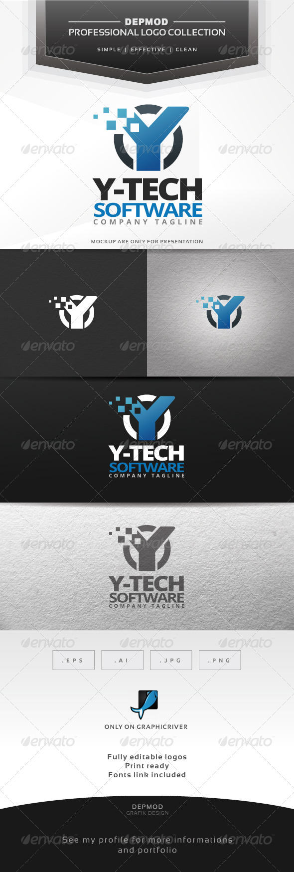 Y-Tech Software Logo - Letters Logo Templates