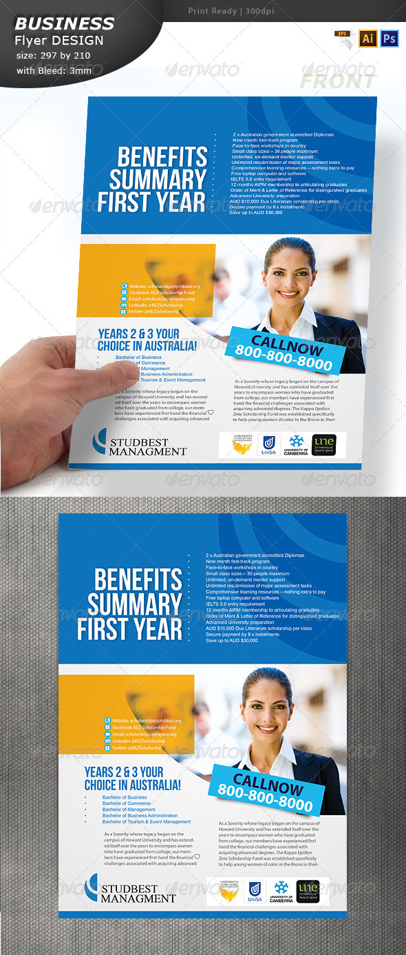 A4 Business Flyer Design  - Flyers Print Templates