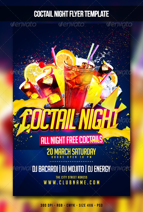 Coctail Night Flyer - Clubs & Parties Events