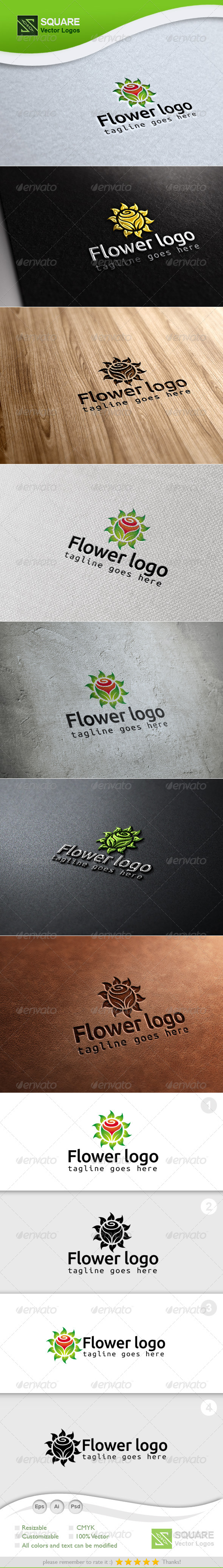 Leafs, Flower Vector Logo Template - Nature Logo Templates