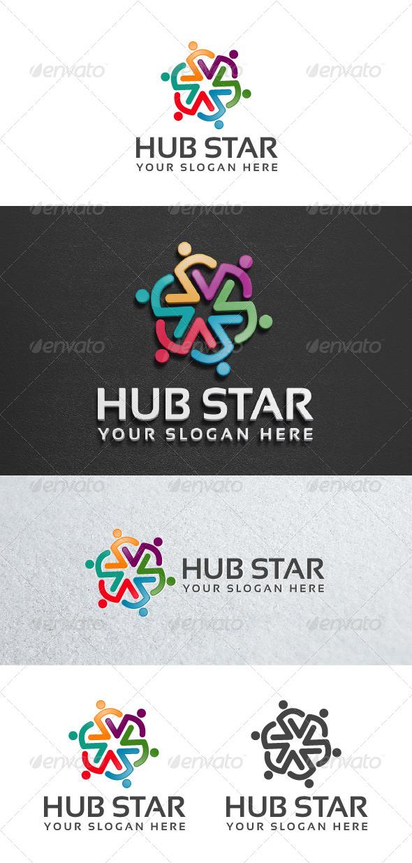 Hub Star - Symbols Logo Templates