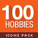 100 - Hobbies and Interests Icons  - GraphicRiver Item for Sale