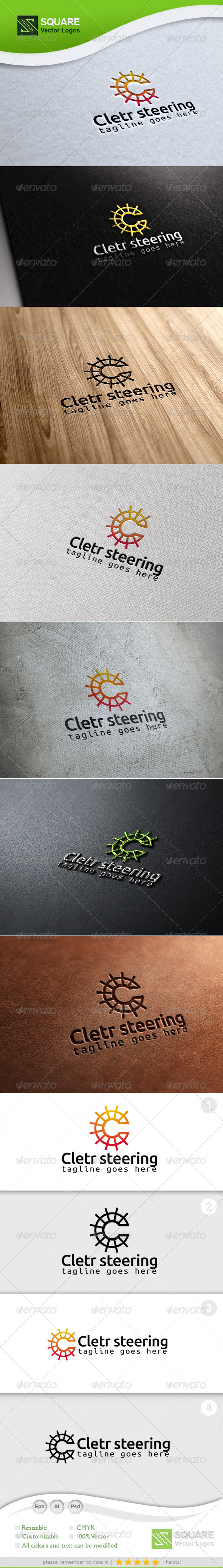 C, Steering Vector Logo Template - Letters Logo Templates