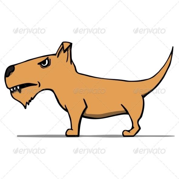 Angry Cartoon Dog - Animals Characters