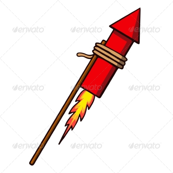 Firework Rocket - Man-made Objects Objects