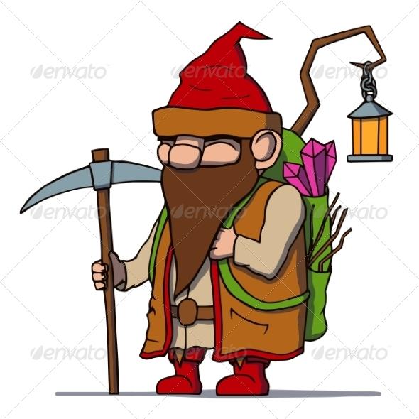 Cartoon Dwarf Miner - People Characters