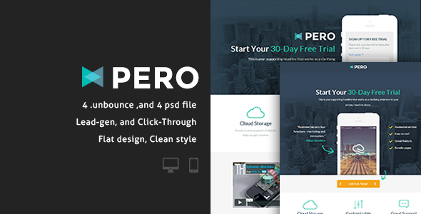Pero – Bundle Unbounce pages