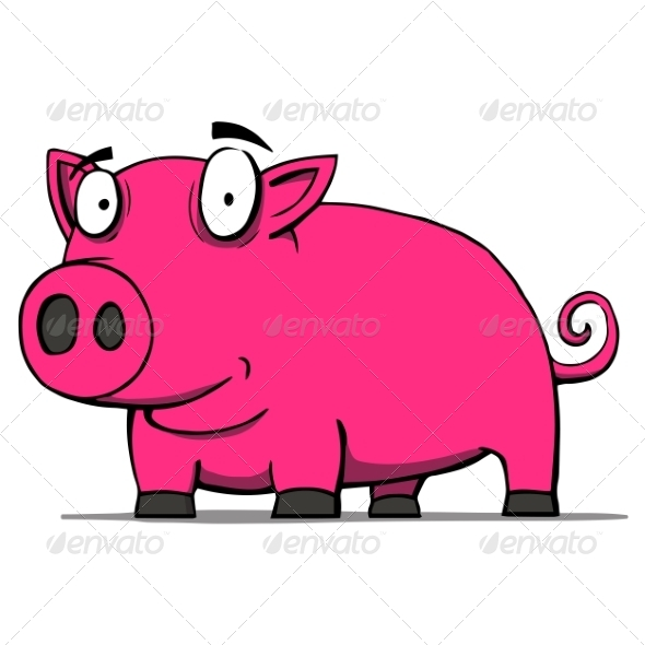 Pig Cartoon - Animals Characters