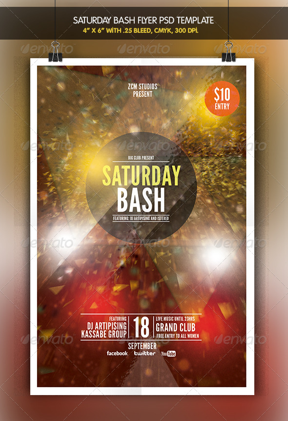 Saturday Bash - Clubs & Parties Events