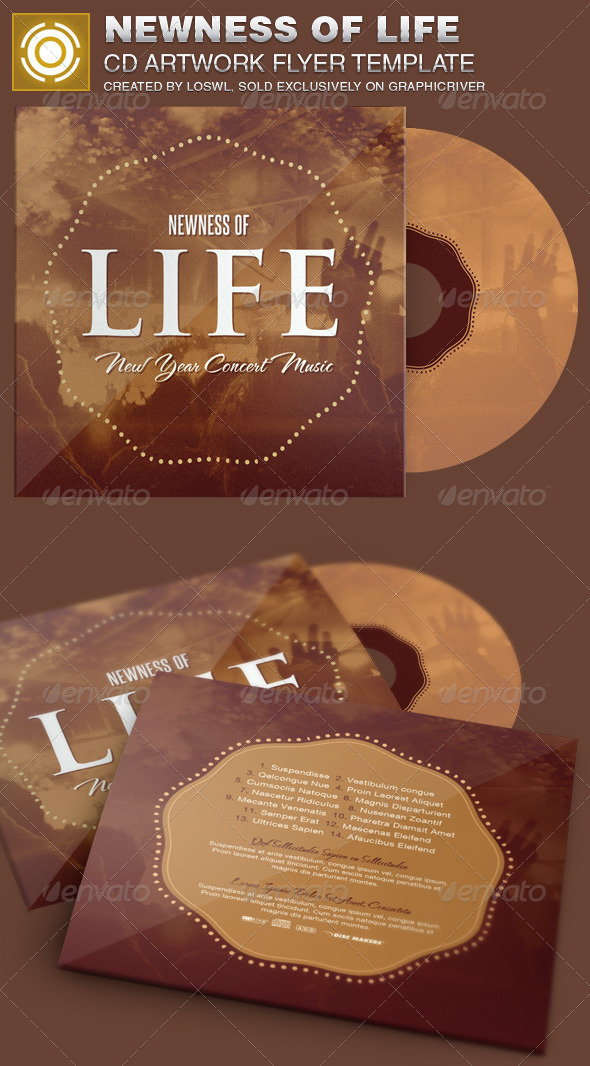 Newness of Life CD Artwork Template - CD & DVD Artwork Print Templates