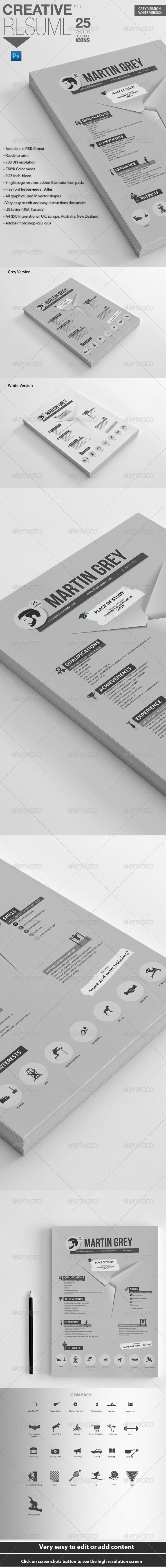 Professional Resume | For Personal Trainers - Resumes Stationery