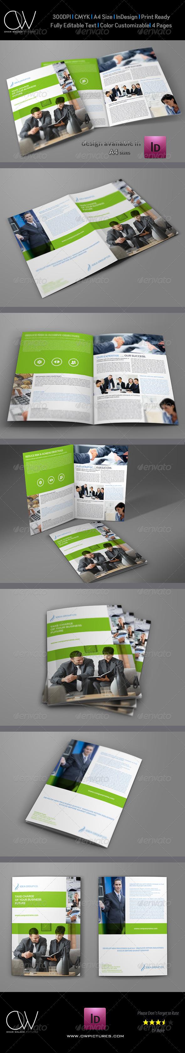 Company Brochure Bi-Fold Template Vol.19 - Corporate Brochures