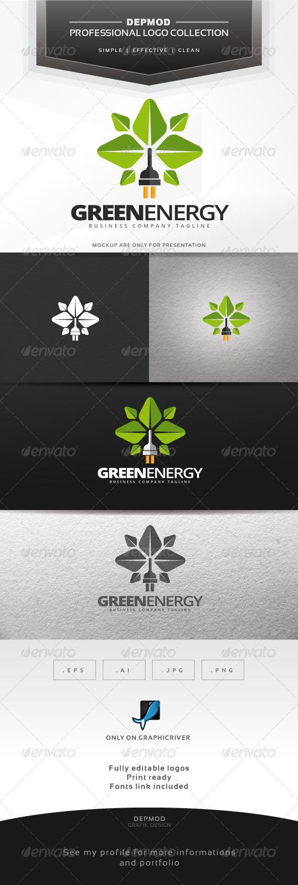 Green Energy Logo - Symbols Logo Templates