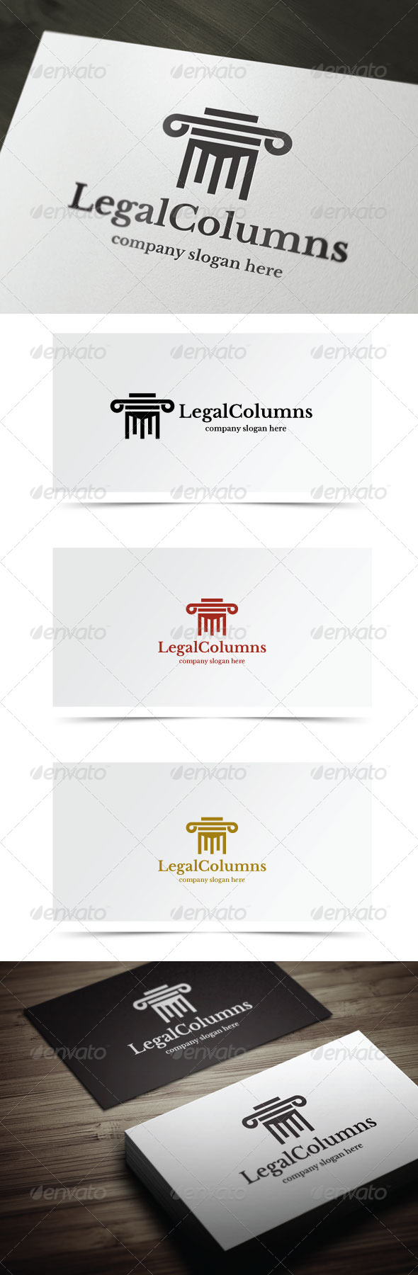 Legal Columns - Objects Logo Templates