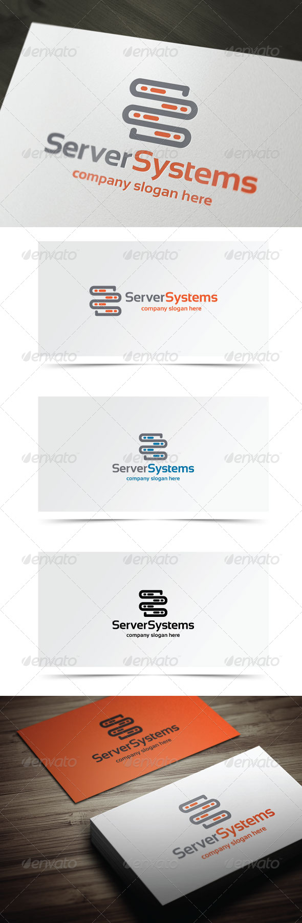 Server Systems - Objects Logo Templates