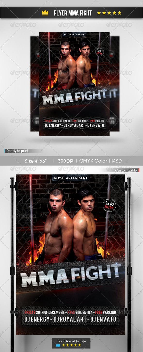 Flyer MMA Fight - Clubs & Parties Events