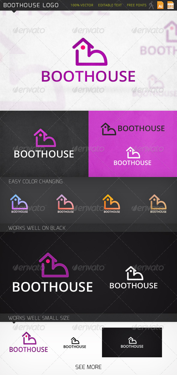 Boothouse Shoe Logo Template - Buildings Logo Templates