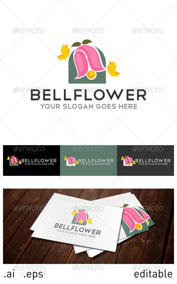 Bell Flower Logo Template - Nature Logo Templates