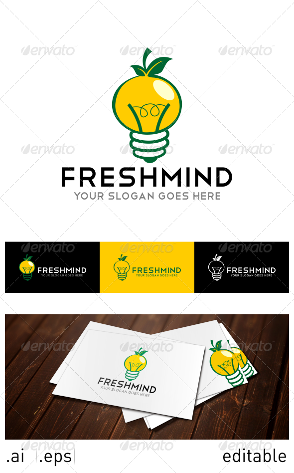 Fresh Mind Logo Template - Nature Logo Templates