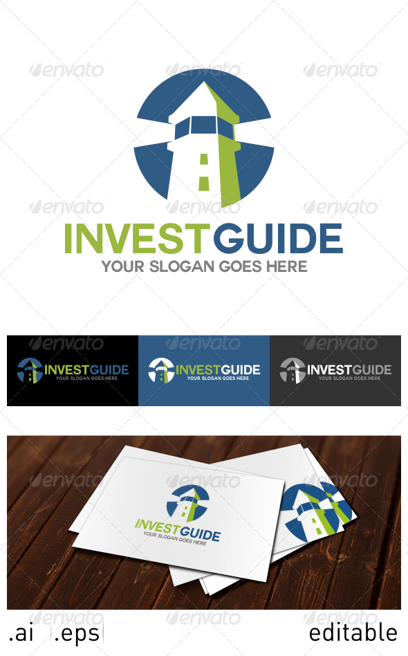 Invest Guide Logo Template - Buildings Logo Templates