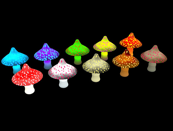 Mushroom Type 1 - 3D Game Asset - 3DOcean Item for Sale