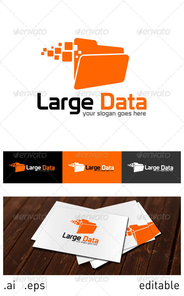 Large Data Logo Template - Objects Logo Templates